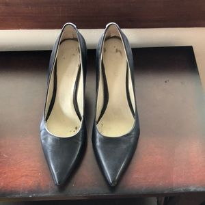 Nine West pump in black.  Style is flax.